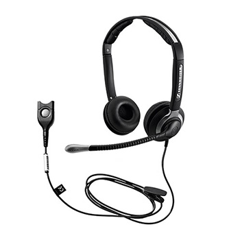 Sennheiser CC 550 IP Headset - Stereo - Quick Disconnect - Wired - 180 Ohm - 150 Hz - 6.80 kHz - Over-the-head - Binaural - Semi-open - 3.28 ft Cable