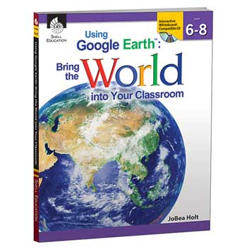 Shell Education Book, Geography, Google-Earth, 6th-8th
