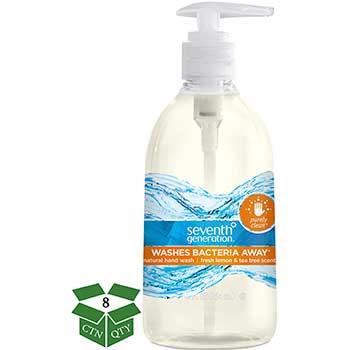 Natural Hand Wash, Purely Clean Fresh Lemon & Tea Tree, 12 oz Pump Bottle, 8/CT