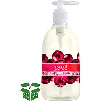 Natural Hand Wash, Black Currant & Rosewater, 12 oz Pump Bottle, 8/CT