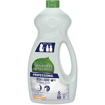 Seventh Generation® Professional Professional Dishwashing Liquid, Free & Clear/Unscented, 50 oz, 6/CT