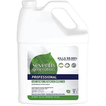 Seventh Generation® Disinfecting Kitchen Cleaner, Lemongrass Citrus Scent, Spray, 1 Gallon