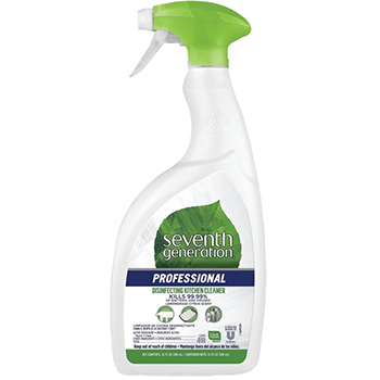 Seventh Generation® Disinfecting Kitchen Cleaner, Lemongrass Citrus Scent, Spray, 32 oz. Bottle