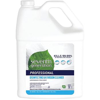 Seventh Generation® Disinfecting Bathroom Cleaner, Lemongrass Citrus Scent, Spray, 1 Gallon, 2/CT