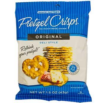 Snack Factory® Pretzel Crisps®, Original, 1.5 oz., 24/CS