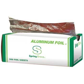 "Spring Grove® Standard Aluminum Foil Interfolded Sheets, 12""W x 10-3/4""L, 500 Shts/BX, 6 BX/CT"