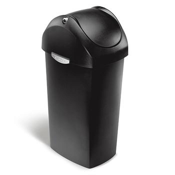 simplehuman® Swing lid can, 15 5/6 gallons, Black