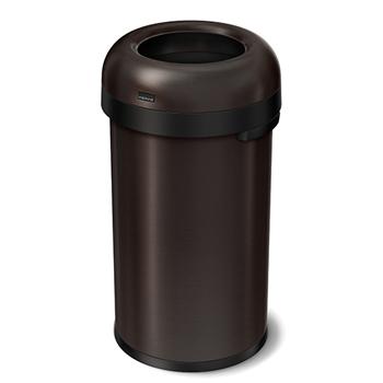 simplehuman® Bullet open can, 15 5/6 gallons, Dark Bronze Stainless Steel