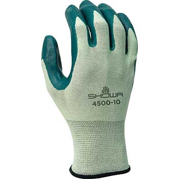 SHOWA 4500 General Purpose Glove, Nitrile Coated, Light Green, Medium, 12/PK