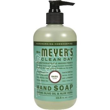 Mrs. Meyer's® Hand Soap, Basil, 12.5 oz., 6/CS