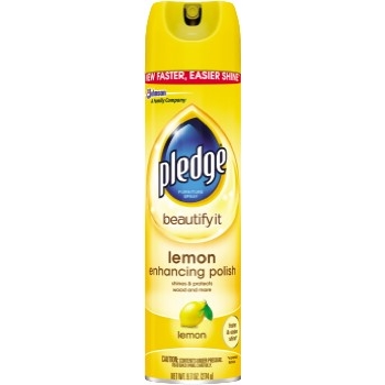 Pledge® Furniture Polish, 9.7 oz. Aerosol, Lemon Scent