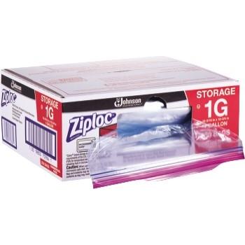 Storage Bags, Plastic, 1gal, 1.75mil, Clear w/Write-On Panel, 250/BX