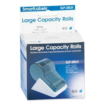 "Seiko SLP-2RLH Self-Adhesive Address Labels, 1.12"" x 3.5"", White, 260 labels/Roll, 2 Rolls/Box"