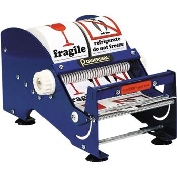 "Tape Logic® Table Top Label Dispenser, 6"", Blue"