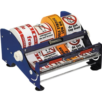 "Table Top Label Dispenser, 12"", Blue"