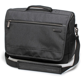 "Samsonite® Modern Utility Messenger Bag, 12"" x 16 1/2"" x 4"", Black, EA"
