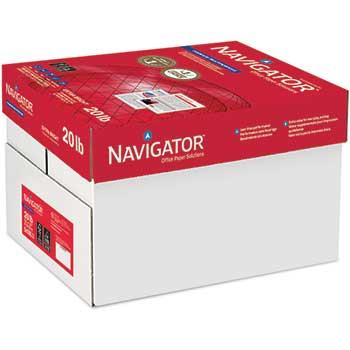 Navigator® Premium Multipurpose Paper, 97 Brightness, 20lb, 11 x 17, White, 2500/Carton
