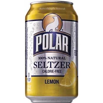 Polar® Lemon Seltzer, 12 oz, 12/PK