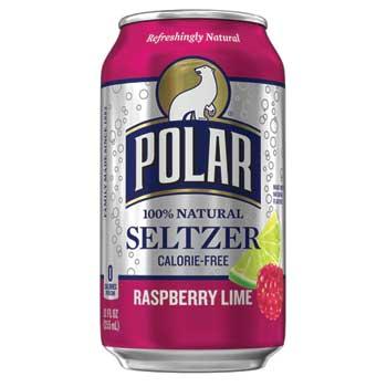 Seltzer Water, Raspberry Lime, 12 oz., 12/PK