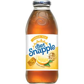 Diet Lemon Iced Tea, 16 oz. Glass Bottle, 24/CS