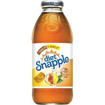 Snapple® Diet Half & Half Iced Tea, 16 oz. Glass Bottle, 24/CT