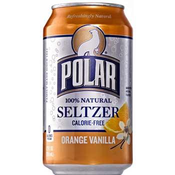Orange Vanilla Seltzer, 12 oz., 12/PK