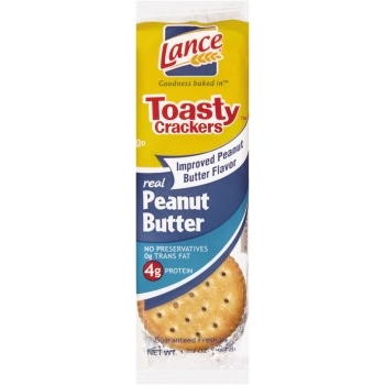 Lance® Toasted Crackers with Peanut Butter, 1.29 oz., 120/CS