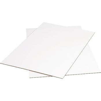 """W.B. Mason Co. Corrugated Sheets, 48"""" x 48"""", White, 5/BD"""