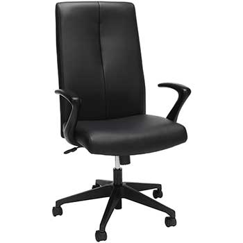 """SuperSeats™ """"Aviator"""" High-Back Executive Chair, Black SofThread Leather"""