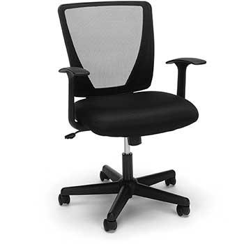 """""""Champion"""" Mid-Back Swivel Tilt Chair, Black Mesh"""
