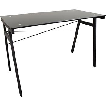 Glass Top Computer Table Desk, Black
