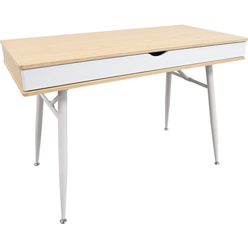 Laminate Computer Table Desk with Drawer, Honey