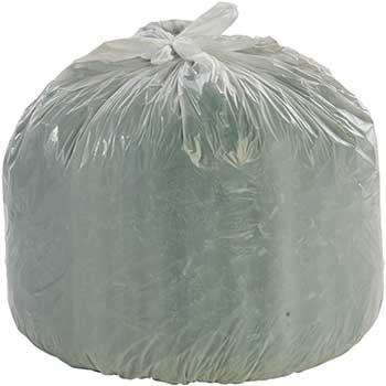 Stout® Controlled Life Cycle Trash Garbage Bag, 13gal, .70 mil, 24x30, White, 120/Box