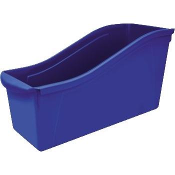 "Storex Large Book Bin, 14 1/3"" x 5 1/3"" x 7"", Blue"
