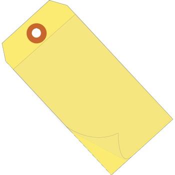 "W.B. Mason Co. Self Laminating Tags, 6 1/4"" x 3 1/8"", Yellow, 100/CS"
