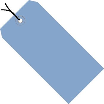 """W.B. Mason Co. Shipping Tags, Pre-Strung, 13 Pt., 4 3/4"""" x 2 3/8"""", Dark Blue, 1000/CS"""