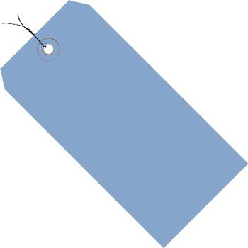 "W.B. Mason Co. Shipping Tags, Pre-Wired, 13 Pt., 4 3/4"" x 2 3/8"", Dark Blue, 1000/CS"