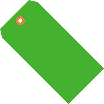 "W.B. Mason Co. Shipping Tags, 13 Pt., 3 1/4"" x 1 5/8"", Fluorescent Green, 1000/CS"