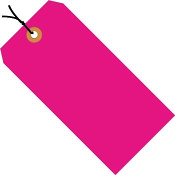 "W.B. Mason Co. Shipping Tags, Pre-Strung, 13 Pt., 4 1/4"" x 2 1/8"", Fluorescent Pink, 1000/CS"