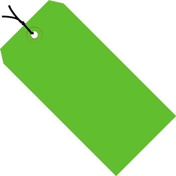 "W.B. Mason Co. Shipping Tags, Pre-Strung, 13 Pt., 6 1/4"" x 3 1/8"", Green, 1000/CS"