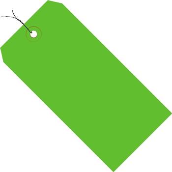 "W.B. Mason Co. Shipping Tags, Pre-Wired, 13 Pt., 8"" x 4"", Green 500/CS"