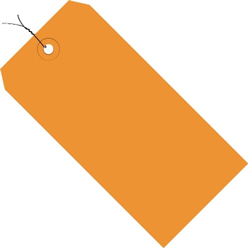 "Shipping Tags, Pre-Wired, 13 Pt., 4 3/4"" x 2 3/8"", Orange, 1000/CS"
