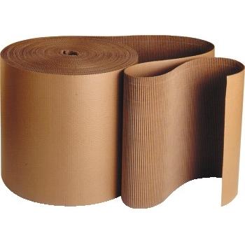 "Singleface Corrugated Roll, 9"" x 250', Kraft"