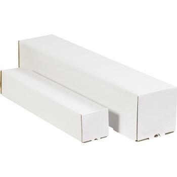 "W.B. Mason Co. Square Mailing Tubes, 5"" x 5"" x 30"", White, 25/BD"
