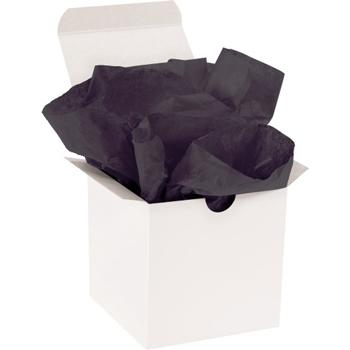 "W.B. Mason Co. Gift Grade Tissue Paper, 15"" x 20"", Black, 960/CS"