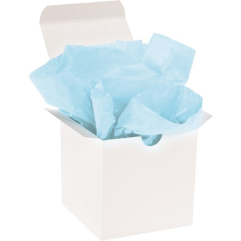 "W.B. Mason Co. Tissue Paper, Gift Grade, 20"" x 30"", Light Blue, 480/CS"