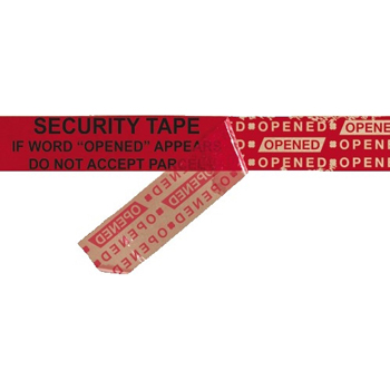 "Secure Tape Strips, 2.5 Mil, 2"" x 9"", Red, 100/CS"