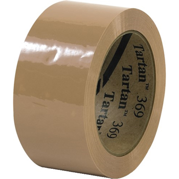 "3M™ 369 Carton Sealing Tape, 1.6 Mil, 2"" x 110 yds., Tan, 36/CS"