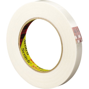"""3M™ 897 Strapping Tape, 6.0 Mil, 3/4"""" x 60 yds., Clear, 12/CS"""