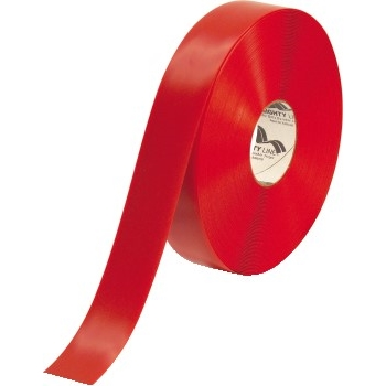"""Deluxe Safety Tape, 60 Mil PVC, 2"""" x 100', Red"""